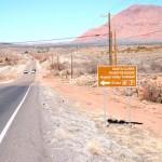 Anasazi Valley Petroglyphs Trail sign