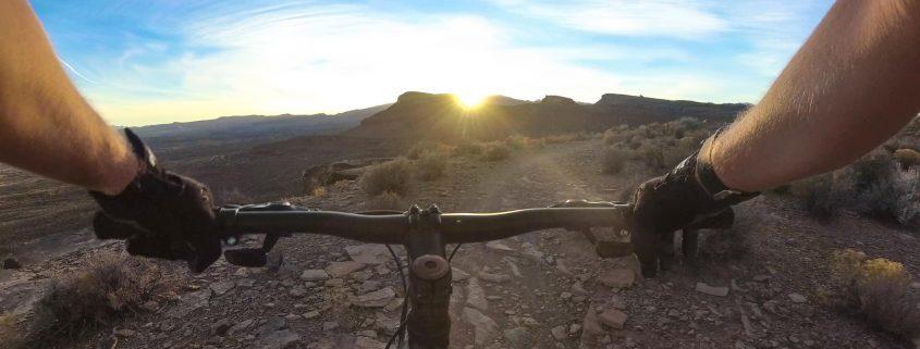 Mountain biking on Rim Runner