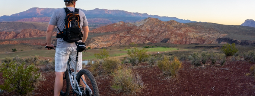 biking at the Sky Mountain Overlook in Southern Utah